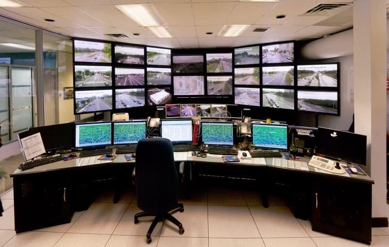 Het Centrum van het Bevel van de Controle van het verkeer stock fotografie