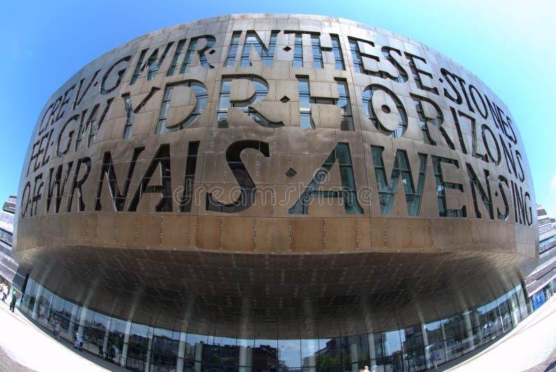 Het Centrum van het Millennium van Wales stock foto