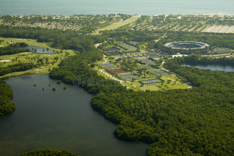 Het Tenniscentrum van het Crandonpark stock afbeelding