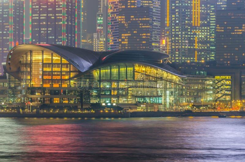 Het Centrum van Hong Kong Convention & van de Tentoonstelling (HKCEC) stock afbeeldingen