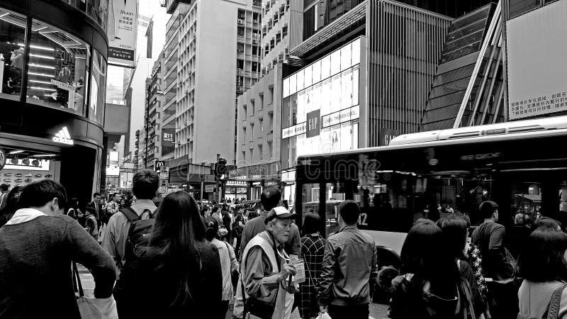 het centrum van Hongkong stock foto
