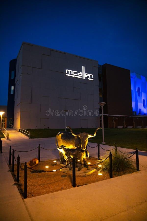Het Centrum van McAllen Uitvoerende kunsten stock foto's