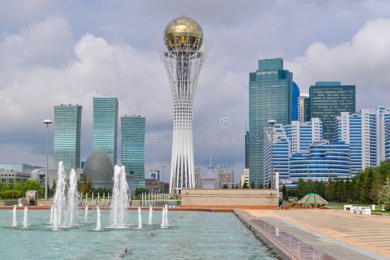 In het centrum van Nursultan royalty-vrije stock afbeelding