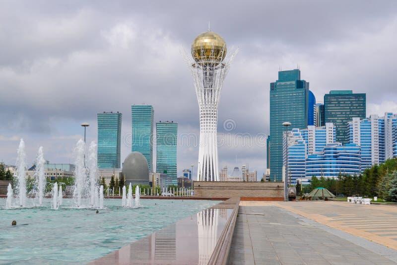In het centrum van Nursultan stock afbeelding