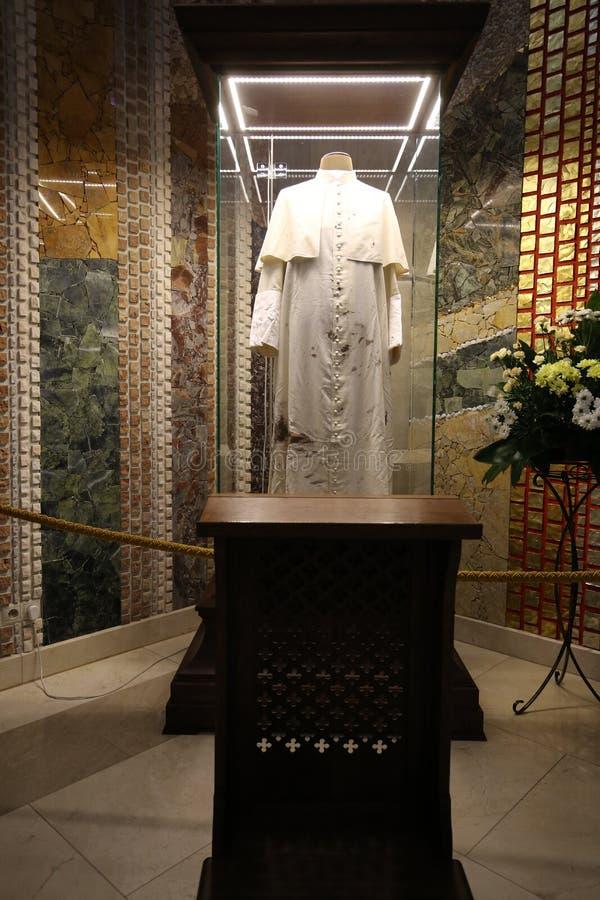 Het centrum van Paus John Paul II Krakau stock afbeeldingen