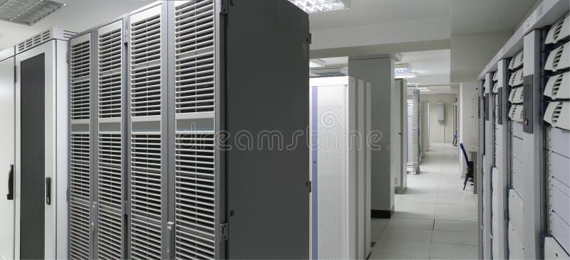 Het centrum van servers stock fotografie