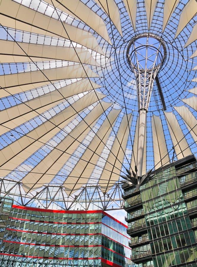 Het Centrum van Sony, Berlijn stock afbeeldingen