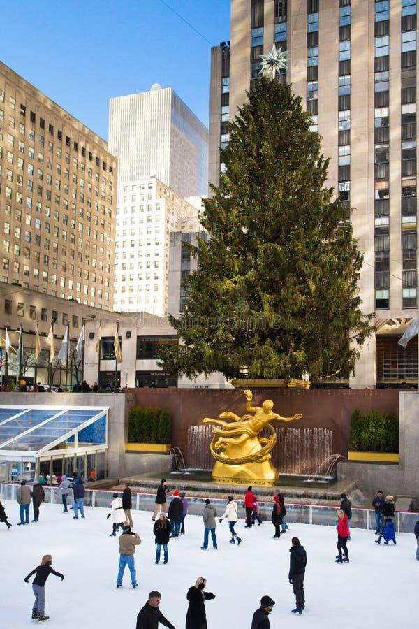 Het Centrumkerstmis van NYC Rockefeller royalty-vrije stock afbeelding