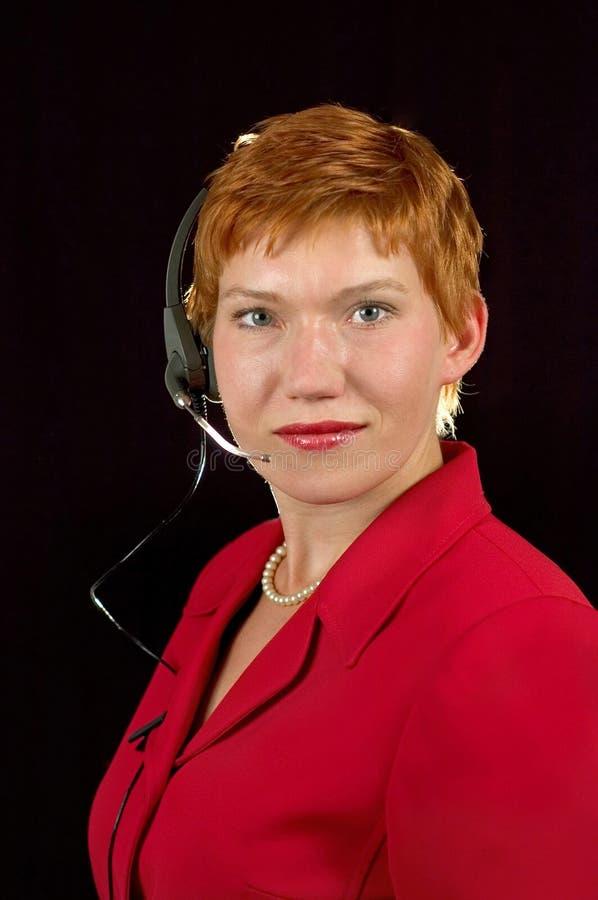 Het centrummanager van verrichtingen. stock afbeelding