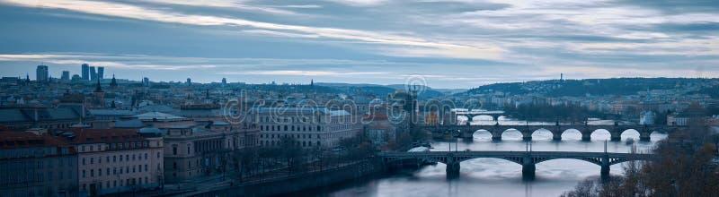 Het centrumpanorama van Praag royalty-vrije stock afbeeldingen