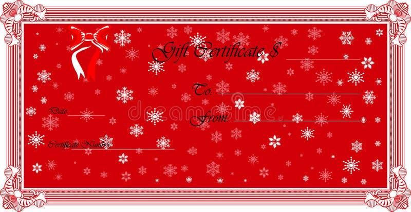 Het Certificaat van de gift (Vector) royalty-vrije stock fotografie