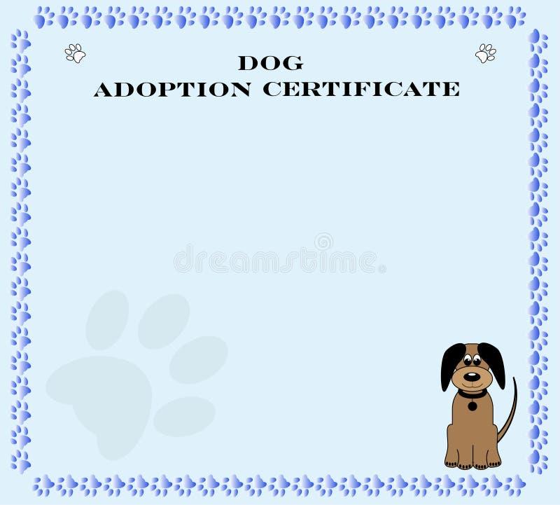 Het Certificaat van de Goedkeuring van de hond vector illustratie