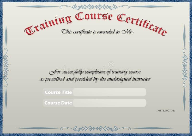 Het Certificaat van de opleiding vector illustratie