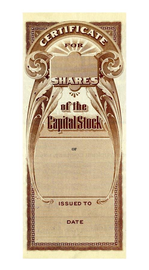 Het Certificaat van de voorraad stock afbeeldingen