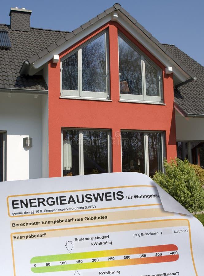 Het Certificaat van energieprestaties royalty-vrije stock afbeelding