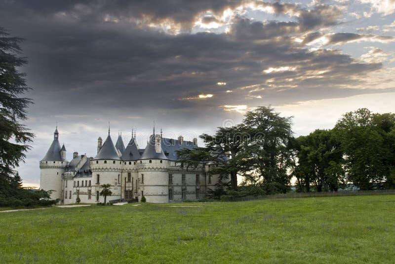 Het Chaumont-sur-Loire van het kasteel stock fotografie