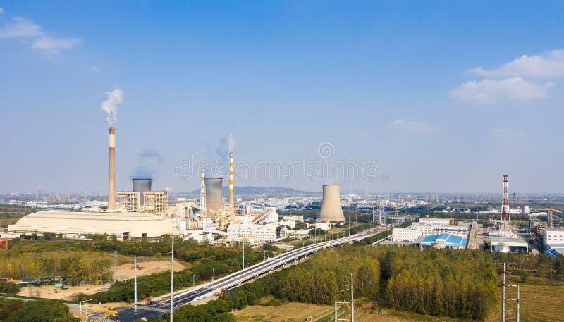 Het Chemische Industrieterrein van Nanjingsjiangbei royalty-vrije stock afbeeldingen