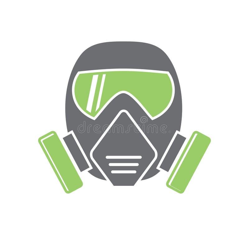 Het chemische pictogram van het beschermingsmasker op achtergrond voor grafisch en Webontwerp Eenvoudig vectorteken Internet-conc stock illustratie