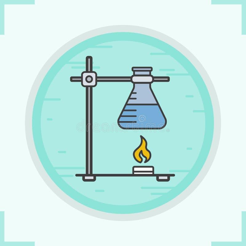 Het chemische pictogram van de reactiekleur vector illustratie