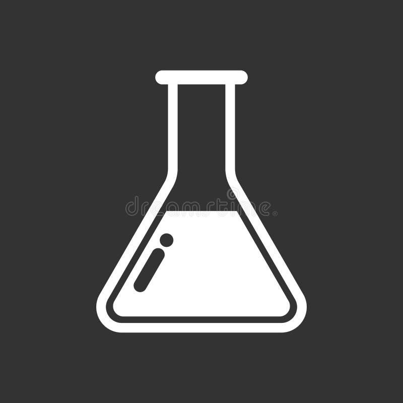 Het chemische pictogram van het reageerbuispictogram Laboratoriumglaswerk of beake royalty-vrije illustratie