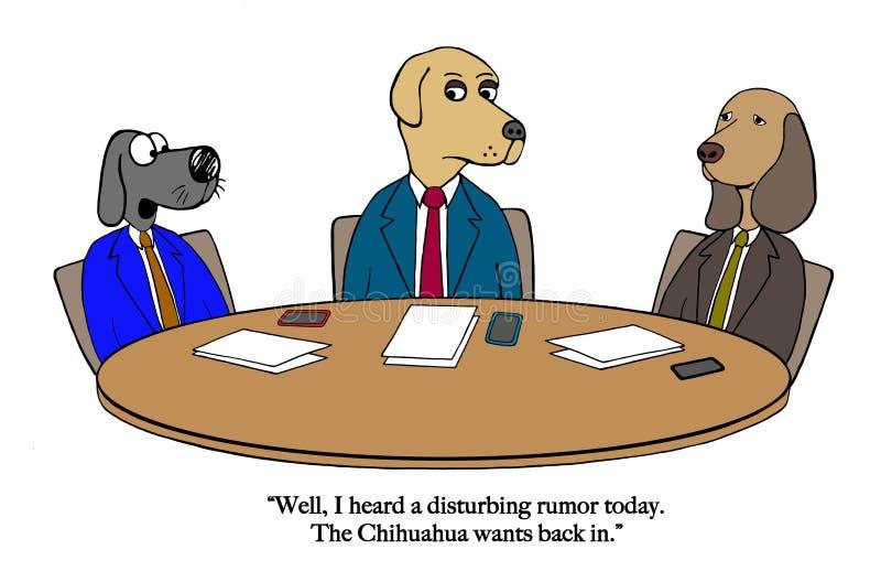 Het Chihuahuagerucht bereikt de raad stock illustratie
