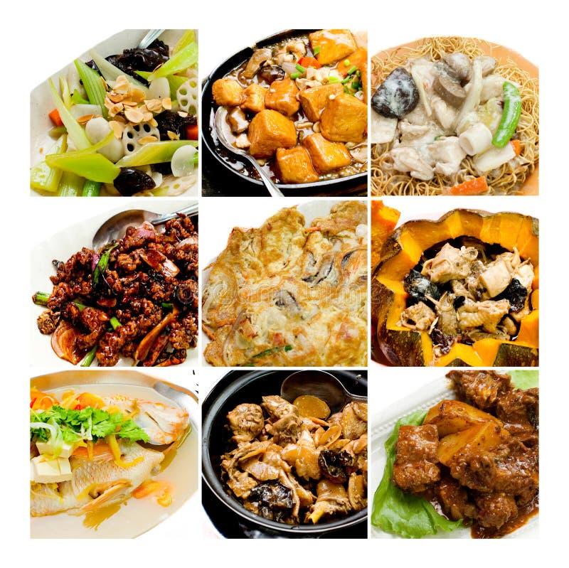 Het Chinese Aziatische voedsel van de inzameling stock foto
