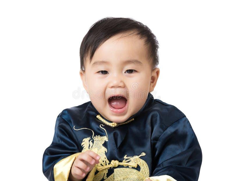 Het Chinese baby gillen royalty-vrije stock foto's