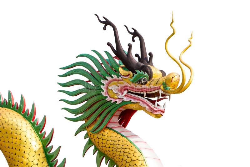Het Chinese geïsoleerde standbeeld van de stijldraak stock illustratie