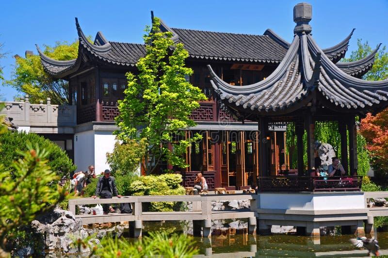 Het Chinese Huis van de Thee stock fotografie