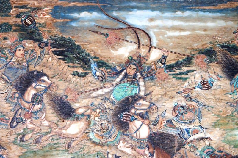 Het Chinese klassieke schilderen royalty-vrije illustratie