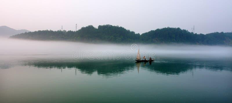 Het Chinese landschap schilderen royalty-vrije stock afbeelding