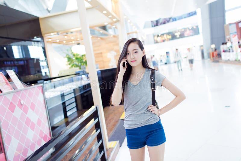 Het Chinese meisje van de manier stock foto's