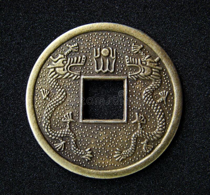 Het Chinese muntstuk van fengshui stock fotografie