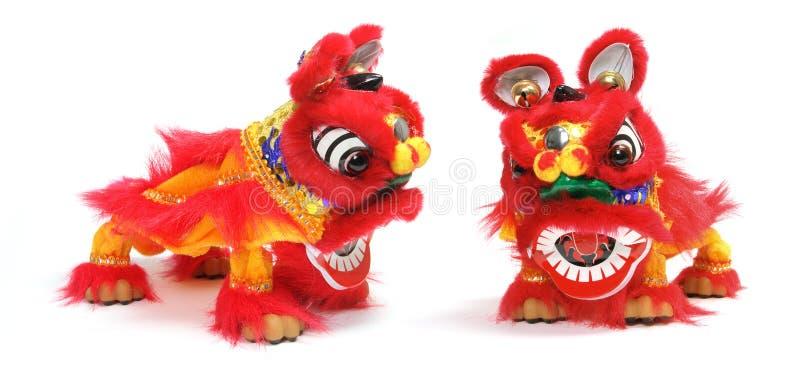 Het Chinese Ornament van de Dans van de Leeuw royalty-vrije stock foto's