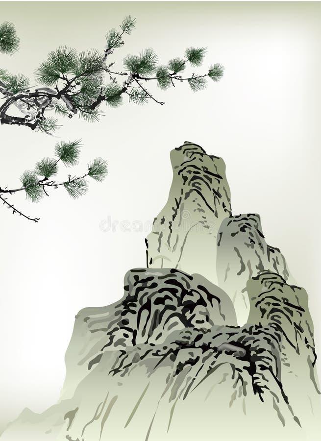 Het Chinese schilderen royalty-vrije illustratie