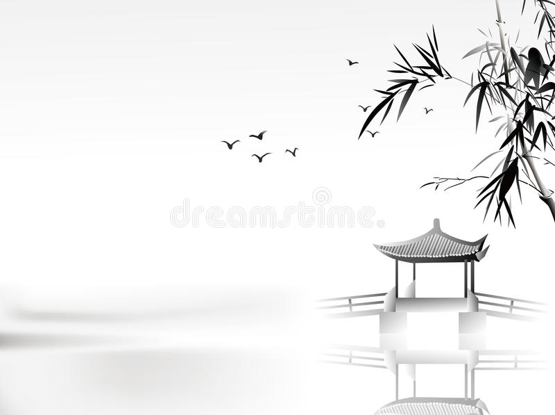 Het Chinese schilderen stock illustratie
