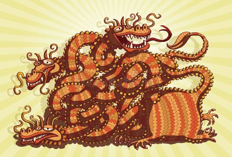 Het Chinese Spel van het Labyrint van de Draak vector illustratie
