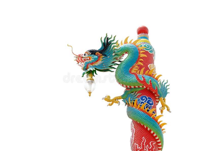 Het Chinese standbeeld van de stijldraak royalty-vrije stock afbeelding