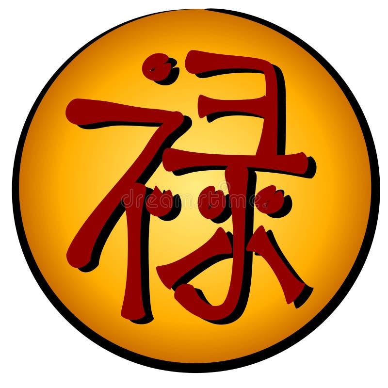 Het Chinese Symbool Van De Welvaart Lu Stock Illustratie