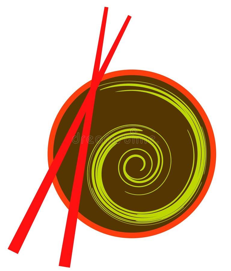 Het Chinese Teken van het Voedsel van het Restaurant vector illustratie