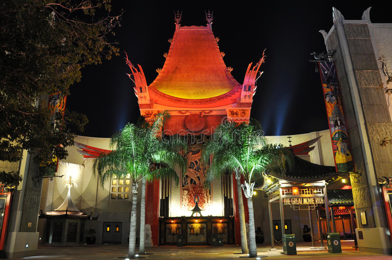 Het Chinese Theater van Grauman bij nacht royalty-vrije stock fotografie