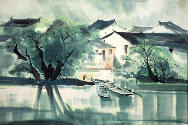 Het Chinese traditionele schilderen vector illustratie