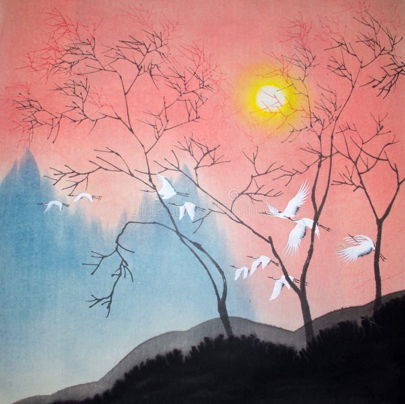 Het Chinese traditionele schilderen stock illustratie