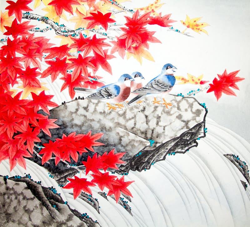 Het Chinese traditionele schilderen royalty-vrije stock afbeelding