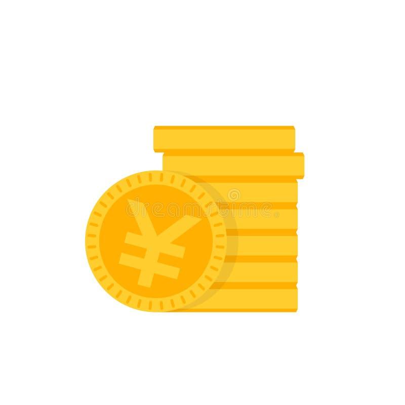 Het Chinese vectorpictogram van yuansmuntstukken vector illustratie
