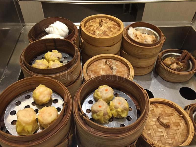 Het Chinese voedsel van Dim Sum stock foto's