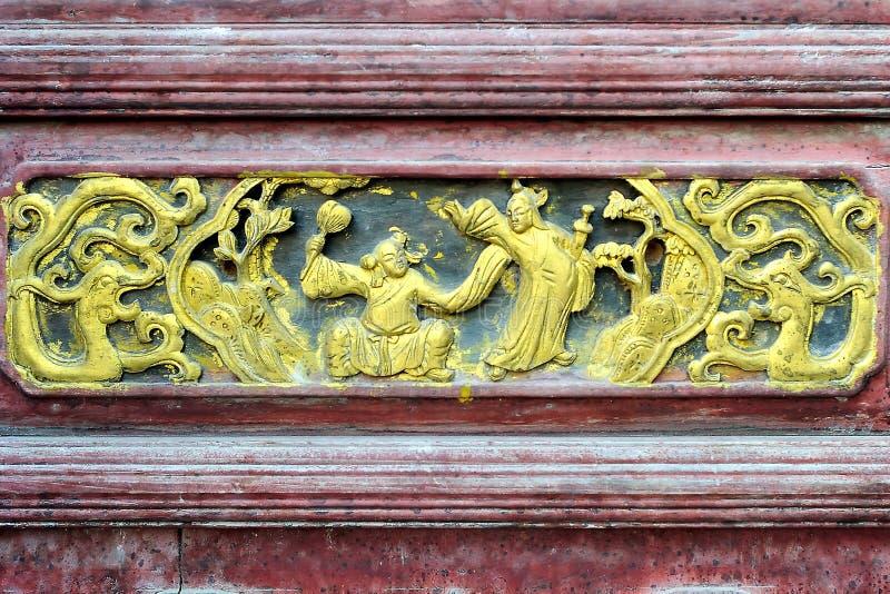 Het Chinese woodcarving royalty-vrije stock afbeeldingen