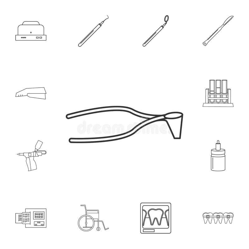 Het chirurgische pictogram van de schaarlijn Gedetailleerde reeks geneeskundehulpmiddelen Premie grafisch ontwerp Één van de inza vector illustratie