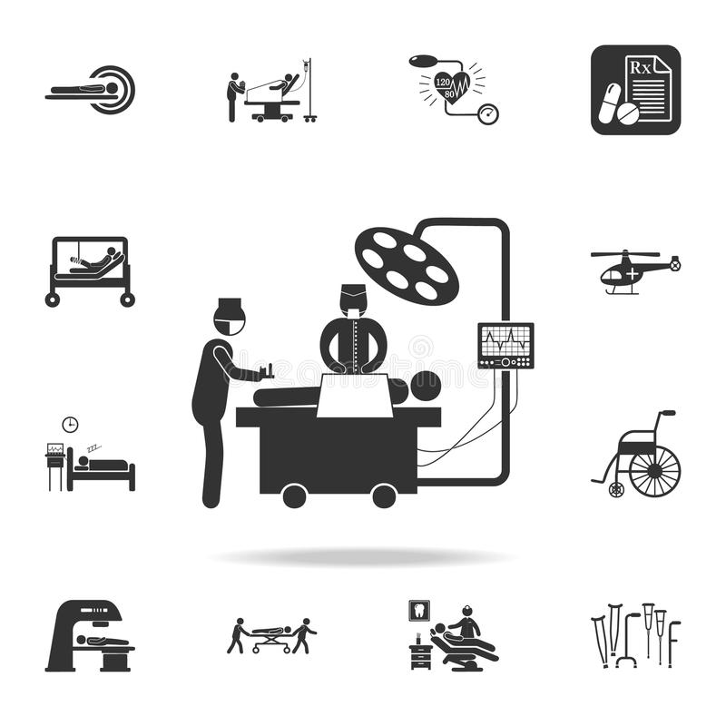 het chirurgische pictogram van de verrichtingsillustratie Gedetailleerde reeks van de Illustratie van het geneeskundeelement Het  stock illustratie