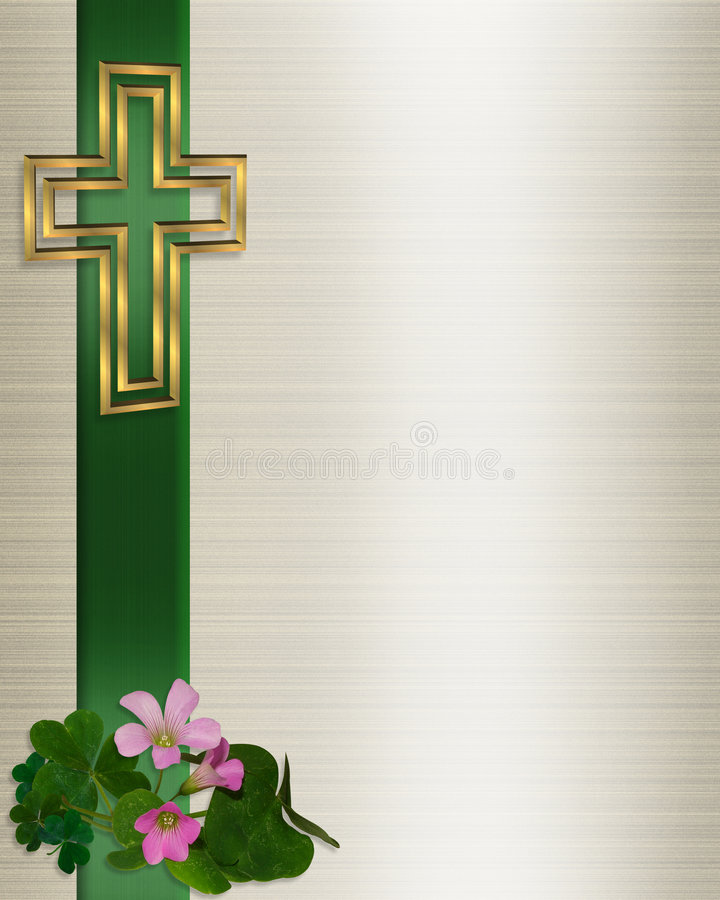 Het Christelijke Kruis van de Uitnodiging van het huwelijk vector illustratie